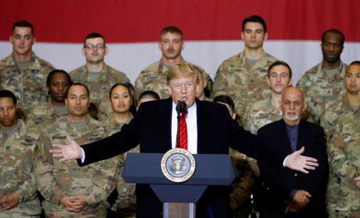 Trump ilk kez Afganistan'da