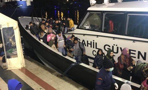 İzmir'de lastik botlarla Yunanistan'a geçmek isteyen 120 sığınmacı yakalandı