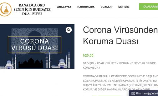 Şarlatanlar sahnede: İnternette 20 liraya 'koronavirüs duası' satıyorlar!