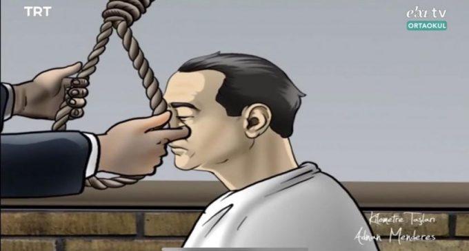 Uzaktan eğitimde ilk gün: Adnan Menderes'in idamı izletildi, ilahi dinletildi