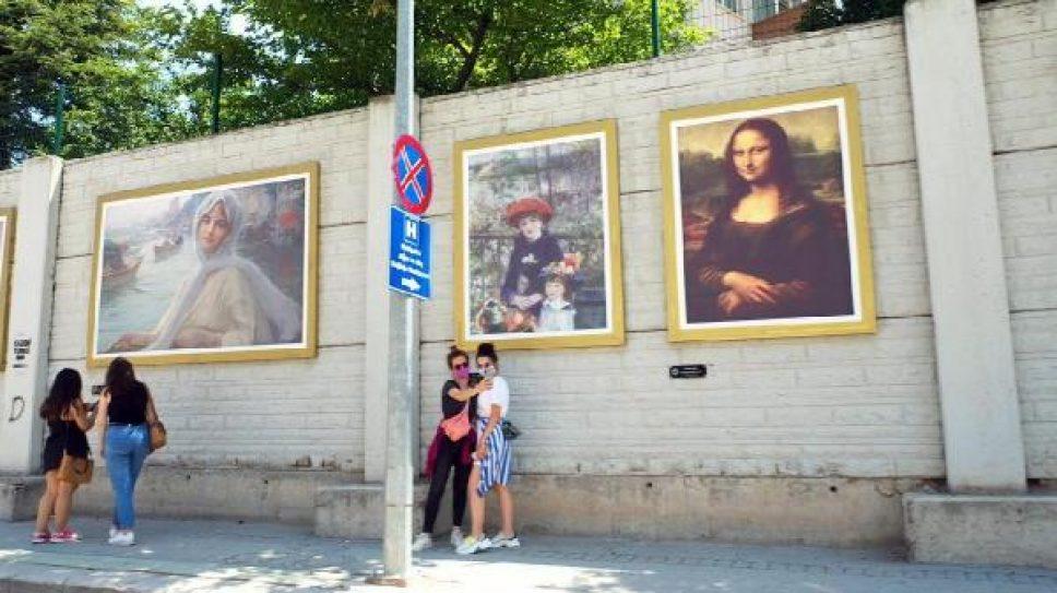 İstinat duvarı galeriye çevrildi