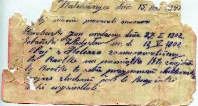 Polonya'da İkinci Dünya Savaşı'nda yazılmış şişeye gizlenmiş mektup bulundu