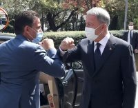 MSB: Bakan Akar, Libya Savunma Bakanı Selahaddin Nemruş ile bir araya geldi