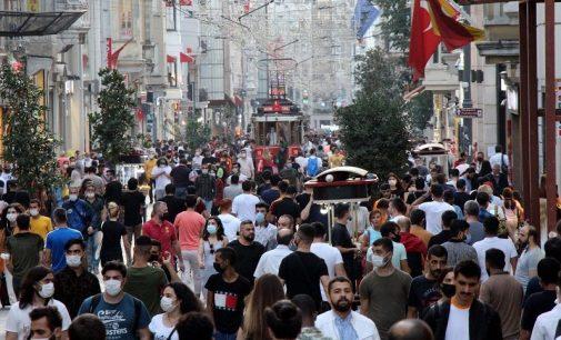 İstiklal Caddesi dolup taştı: Maske ve mesafe kuralları unutuldu, adım atacak yer kalmadı!