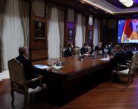 Erdoğan, Merkel ile video konferans aracılığıyla görüştü