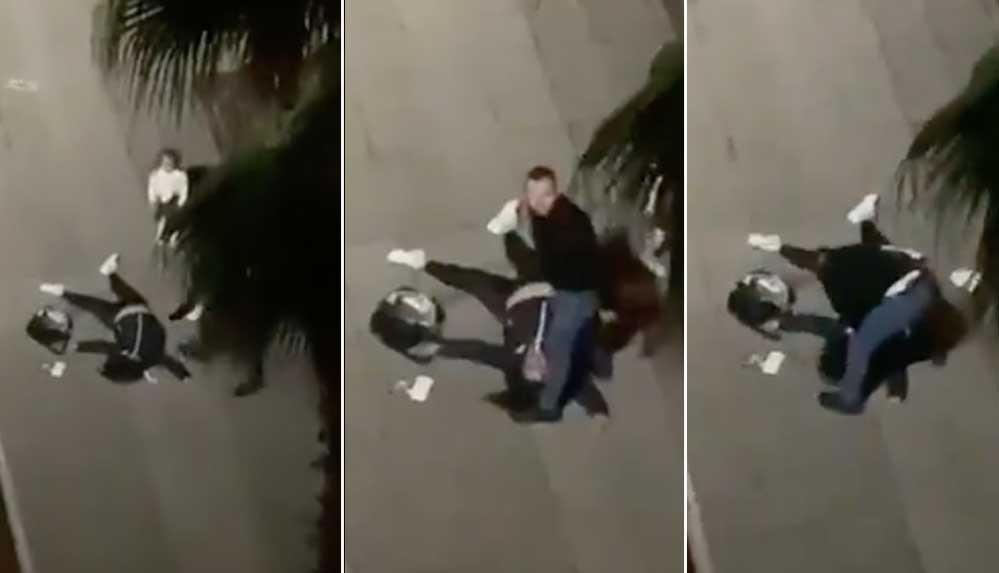 Samsun'da sokak ortasında dehşet: Eski eşini çocuğunun yanında öldüresiye  dövdü | A3 Haber