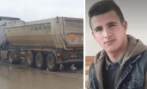 16 yaşındaki motokurye Samet Bilir, TIR'ın altında kaldı