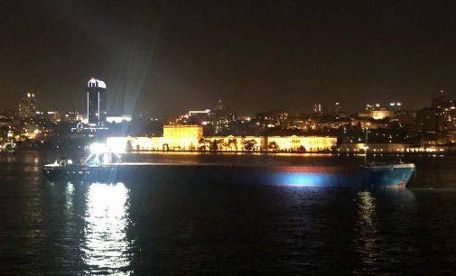 İstanbul Boğazı'nda gemi arızası:Dolmabahçe Sarayı önünde kadar geldi