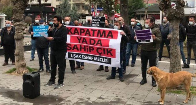 Uşak'ta esnaftan iktidara tepki: Gücümüz kalmadı!