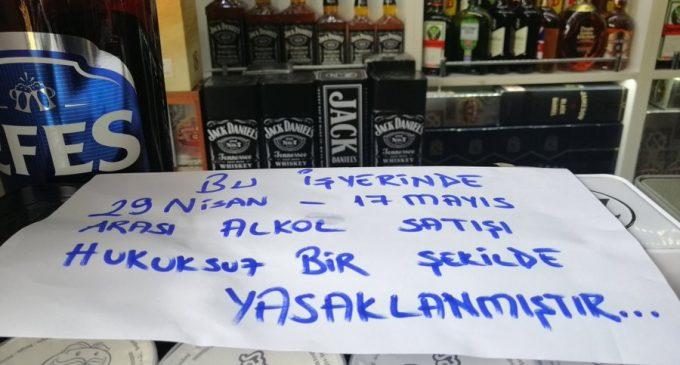 İçki satan esnaf yasaklar bahane edilerek gözaltına alındı