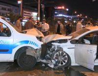 2.27 promil alkollü sürücü polis noktasına daldı: İkisi polis dört yaralı