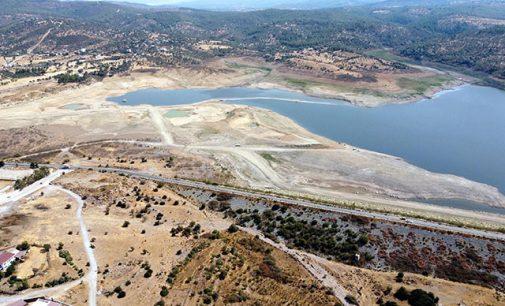 Bodrum'da Mumcular Barajı'nın doluluk oranı yüzde 10'un altına düştü