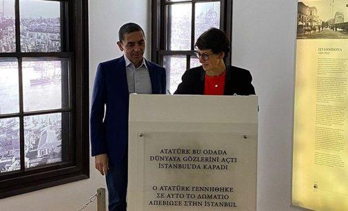 BioNTech'in kurucuları Türeci ile Şahin, Selanik'te Atatürk Evi'ni ziyaret etti